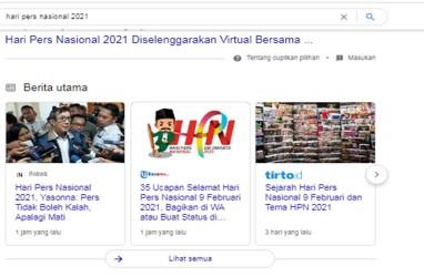 Hari Pers Nasional 2021: Kominfo Susun Regulasi Publisher Rights