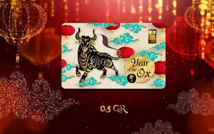 Emas Antam edisi terbatas dalam rangka menyambut Tahun Baru Imlek 2572.  - Youtube.