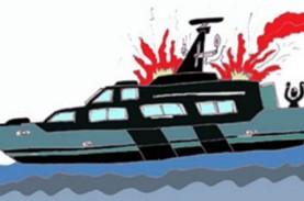 Duaarr!! Satu Kapal Meledak di Samarinda, Asap Hitam…