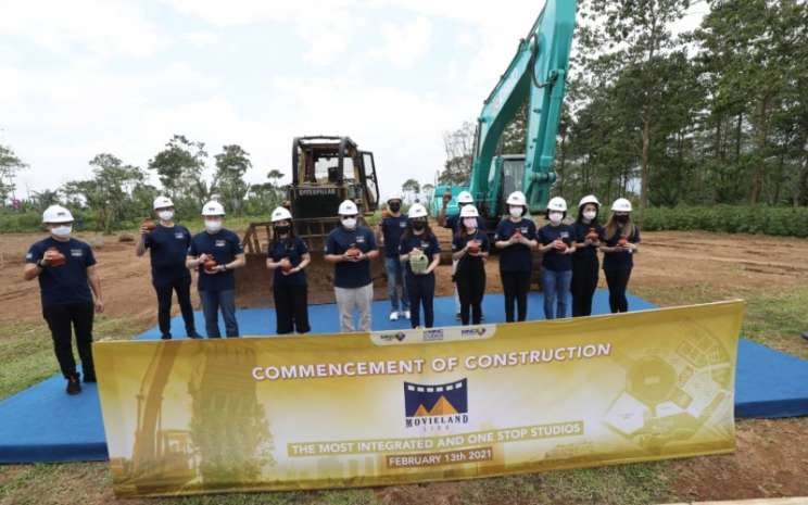 Acara cut and fill yang menandai dimulainya pembangunan Movieland di Lido, Kabupaten Bogor, Jawa Barat, Sabtu (13/2/2021) - Istimewa