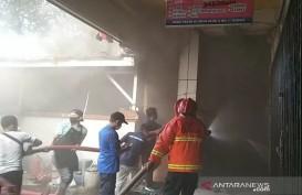 Kebakaran Kios Pasar Kliwon Kudus Bikin Panik Pedagang