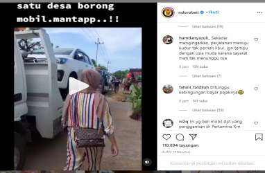 Viral! Video Warga Satu Desa di Tuban Borong Ratusan Mobil