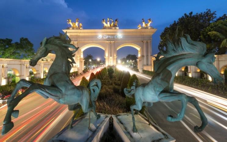 Tengara atau landmark Perumahan CitraRaya Tangerang, salah satu proyek properti besutan PT Ciputra Development Tbk.