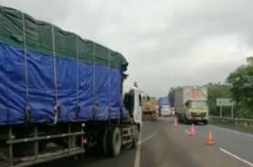 Konstruksi Lajur Sementara KM 122 Tol Cipali Rampung