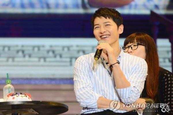 Song Joong-ki dalam jumpa penggemar di China pada 27 Mei 2016 -  Blossom Entertainment/ Yonhap
