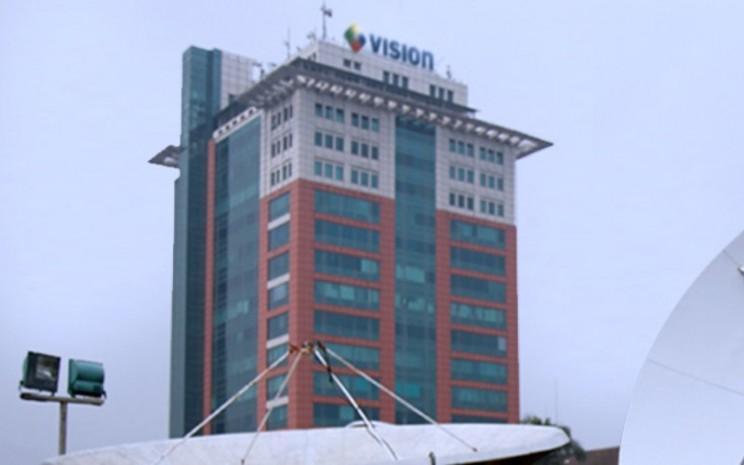 Pemandangan parabola dan kantor PT MNC Vision Network Tbk. - mncvision