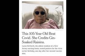 Nenek Berusia 105 Tahun Sembuh dari Covid-19, Apa…