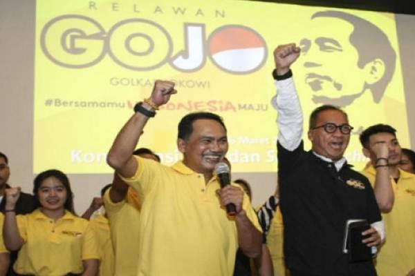 Plt Ketua DPD Partai Golkar DKI Rizal Mallarangeng dan Agus Gumiwang Kartasasmita - Antara