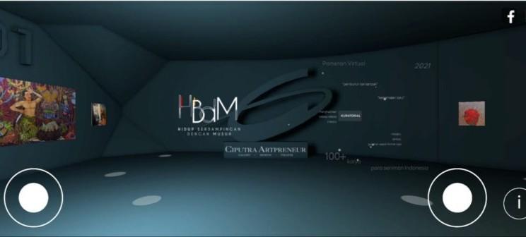 Ciputra Artpreneur melakukan pameran virtual. - tangkapan layar
