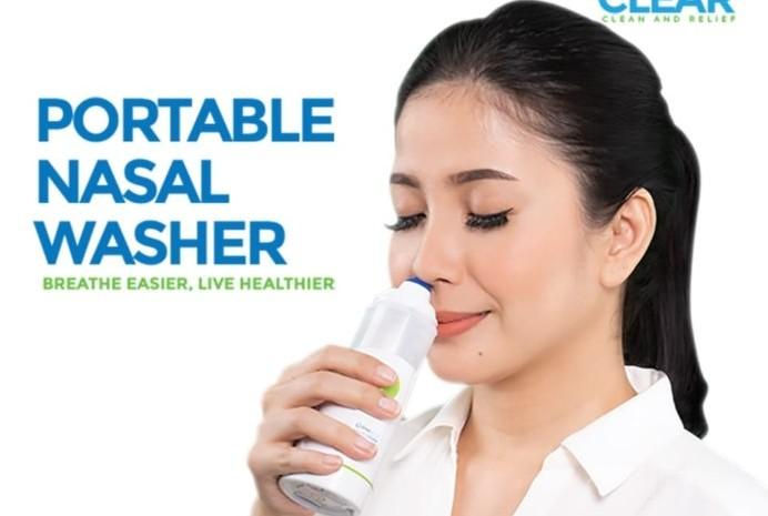 Pembersih hidung portable dari Elvasense. - ilustrasi