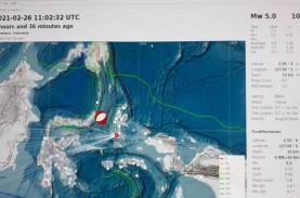 Foto-foto Kerusakan Akibat Gempa 5,0 di Pulau Bacan…