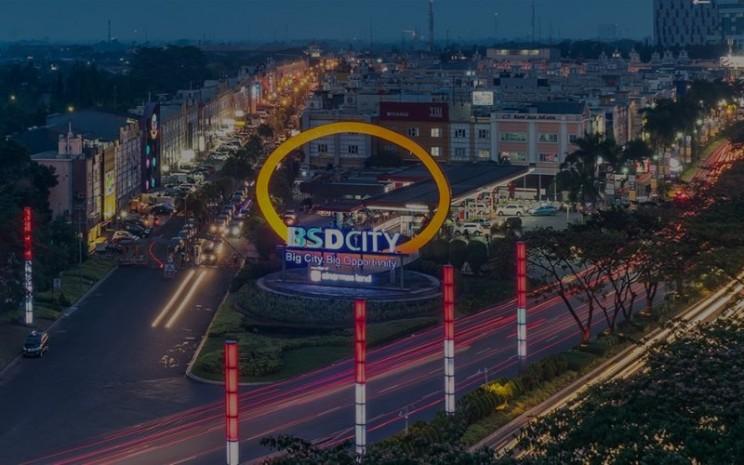 Tengara BSD City di kawasan Bumi Serpong Damai. BSD City merupakan salah satu proyek yang digarap oleh PT Bumi Serpong Damai Tbk. - bsdcity.com