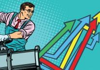 Ilustrasi kinerja saham hari ini./Bisnis.com
