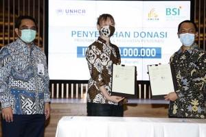 PT Bank Syariah Indonesia Tbk. Salurkan Dana Zakat Untuk Progam Keshatan dan Makanan Pengungsi di Indonesia