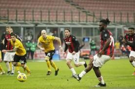 Hasil Serie A, Penalti di Ujung Laga Selamatkan Milan…
