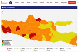 Jateng Dominasi Zona Merah Corona di Pulau Jawa