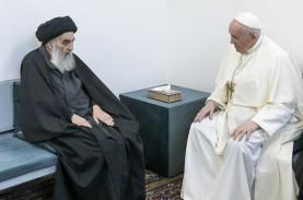 Kunjungan ke Irak, Paus Fransiskus Temui Ayatollah…