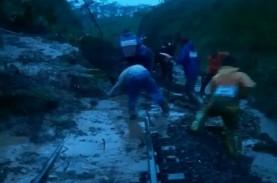 Jalur KA Terimbas Longsor di Pohgajih Sudah Bisa Dilalui