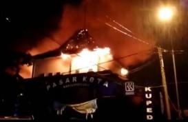 Pasar Banjarnegara Kebakaran, Kios di Lantai Satu dan Dua Hangus