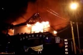 Pasar Banjarnegara Kebakaran, Kios di Lantai Satu…