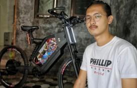 Keren, Pemuda Asal Antapani Sukses Buat Sepeda Listrik dari Barang Bekas