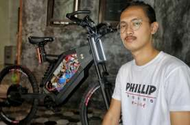 Keren, Pemuda Asal Antapani Sukses Buat Sepeda Listrik…