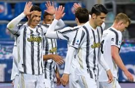 Cetak Hattrick, Ronaldo Makin Jauh Tinggalkan Lukaku Top Skor Serie A