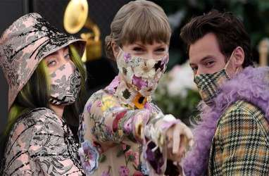 Deretan Musisi dengan Masker Eksentrik di Grammy Awards 2021