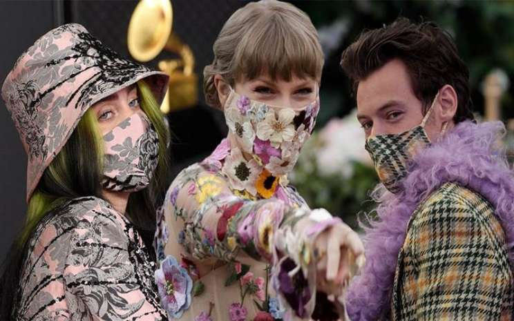 Billie Elish, dan Taylor Swift pakai masker unik
