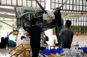 Bandara Semelagi Uji Coba Penerbangan Singkawang-Pontianak-Sintang