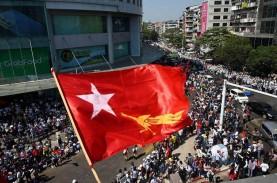 Militer Myanmar Tuding Pendemo Lakukan Kekerasan,…