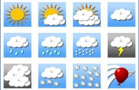 Cuaca Kota Bandung, Hujan Ringan di Siang Hari
