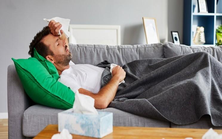 Ilustrasi demam dan flu - CDC
