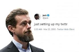 Tweet Pertama Pendiri Twitter Laku Rp41,47 Miliar,…