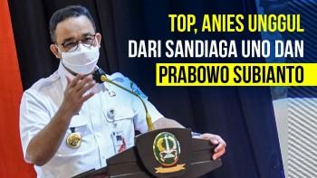 Survei Indikator: Anies Baswedan Unggul dari Prabowo dan Sandiaga Uno