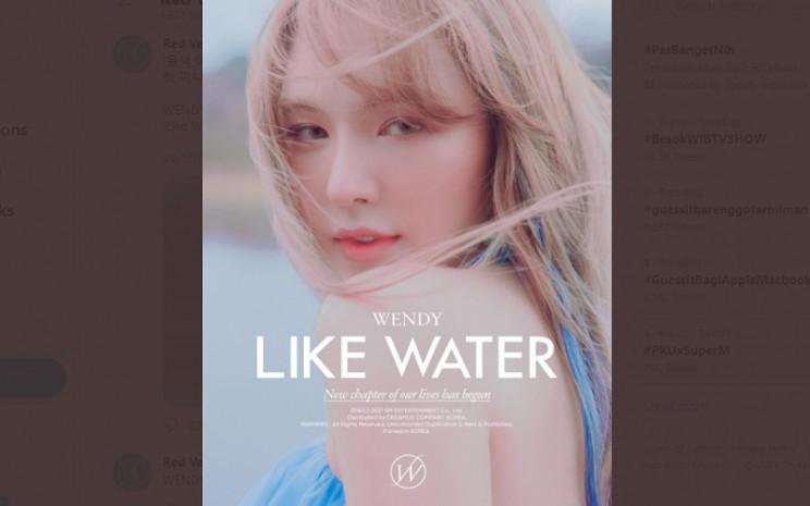 Personel girl group Red Velvet Wendy siap comeback dengan lagu terbaru berjudul Like Water  -  Twitter: Red Velvet