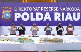 Polda Riau dan Ditjen Bea Cukai Gagalkan Upaya Penyelundupan 44 Kg Narkoba