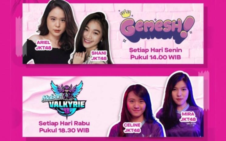 Mabar! Valkyrie 48 bersama Squad Valkyrie48, merupakan program acara seru-seruan khusus bagi para gamers.  - JKT48