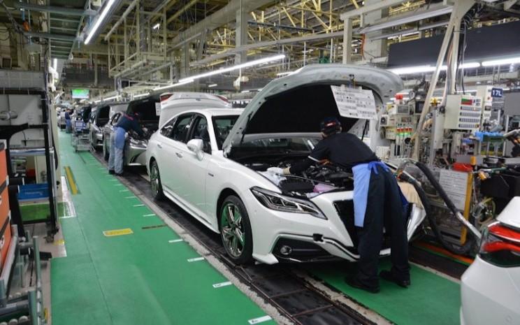 Aktivitas di pabrik mobil Toyota di Jepang. ANTARA - Toyota