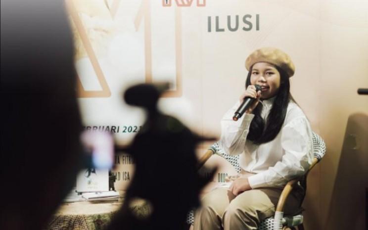 Penyanyi Marsha Alya Zaha mengaku senang mendapatkan kepercayaan dari Idang untuk menyanyikan sejumlah hasil karya ciptaan musisi jazz kawakan tersebut.  - IG@MarshaAlya Zaha.