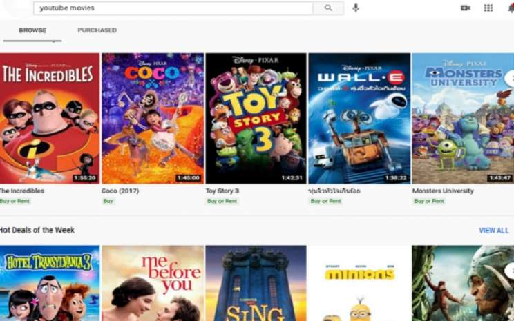 Streaming film online legal di Youtube lewat Youtube Movies  -  Youtube