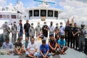 Kena! 2 Kapal Malaysia Tertangkap Mencuri Ikan di Pulau Jemur Rokan Hilir Riau