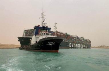 Kapal Nyangkut di Terusan Suez Berhasil Digeser 29 Meter