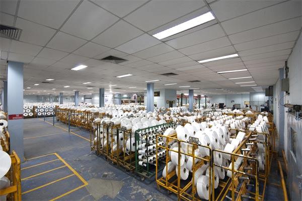 Pabrik serat stapel memiliki kapasitas tahunan 195.000 MT dan terdiri dari 9 jalur pemintalan langsung, 1 jalur ekstruder, dan 8 jalur serat.  - Asia Pacific Fibers