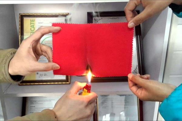 Kain anti-api dibutuhkan sebagai bahan baku beragam produk akhir.  - Asia Pacific Fiber.