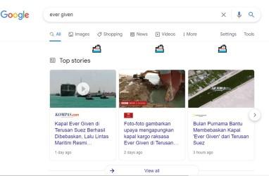 Cara Unik Google Rayakan Keberhasilan Evakuasi Kapal Kargo Raksasa di Terusan Suez