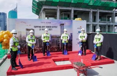 Intiland (DILD) Laksanakan Tutup Atap Apartemen Fifty Seven Promenade