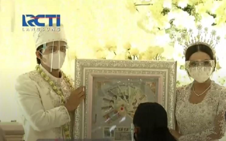 Atta Halilintar dan Aurel Hermansyah resmi jadi pasangan suami-istri, Sabtu (3/4/2021). - Istimewa