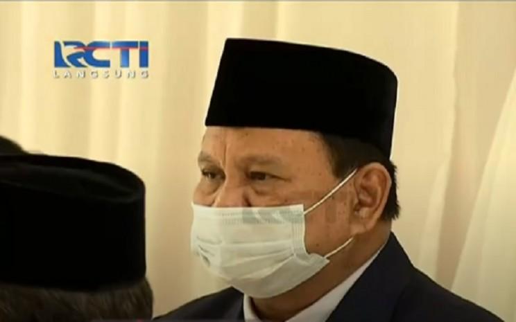 Menteri Pertahanan Prabowo hadir di pernikahan Aurel Hermansyah dan Atta Halilintar, Sabtu (3/4/2021). - Istimewa