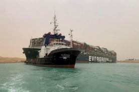 Seluruh Kapal yang Tertahan di Terusan Suez Sudah…